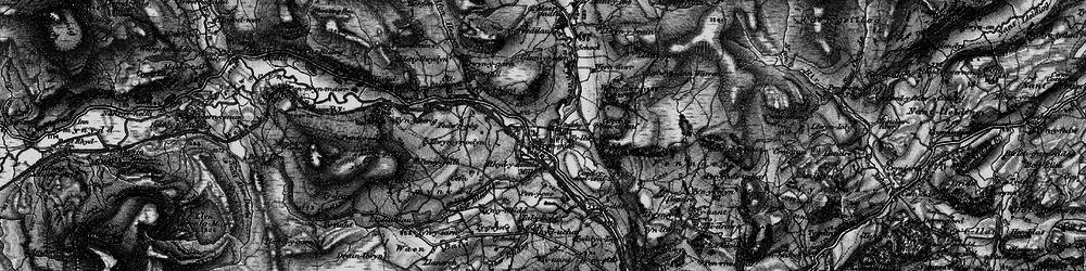 Old map of Afon Hesgyn in 1898