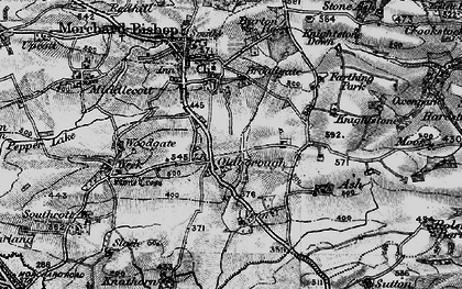Old map of Aish in 1898