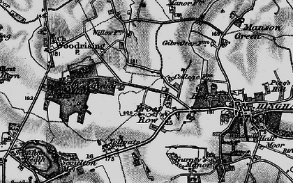 Old map of Woodrising Hall in 1898