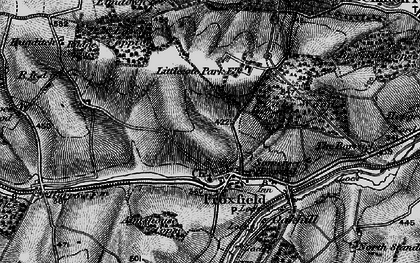 Old map of Froxfield in 1895