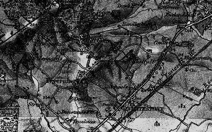 Old map of Fryerning in 1896