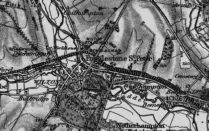 Old map of Fugglestone St Peter in 1895