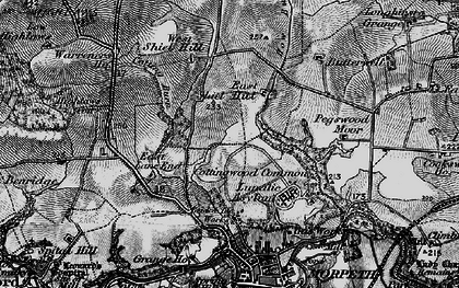 Old map of West Shield Hill in 1897