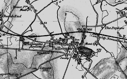 Old map of Fulbourn in 1898