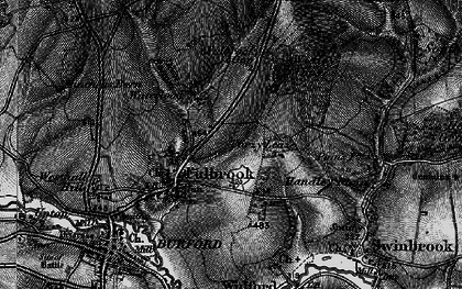 Old map of Widley Copse in 1896