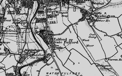 Old map of Fulford in 1898