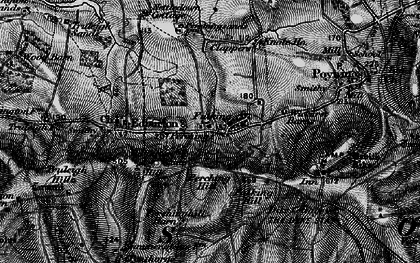 Old map of Wickhurst Barns in 1895