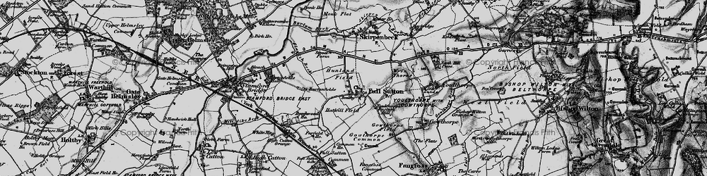 Old map of Winter Beck in 1898