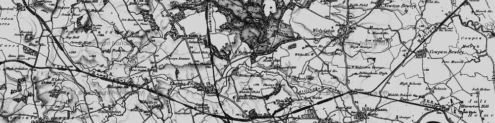 Old map of Wynyard Park in 1898