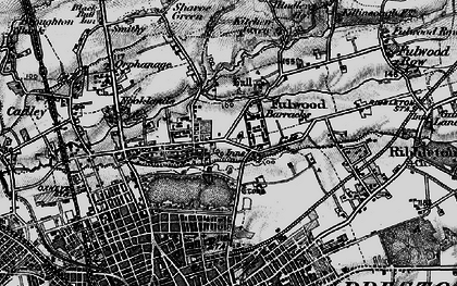 Old map of Fulwood in 1896
