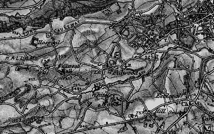 Old map of Whiteley Wood in 1896