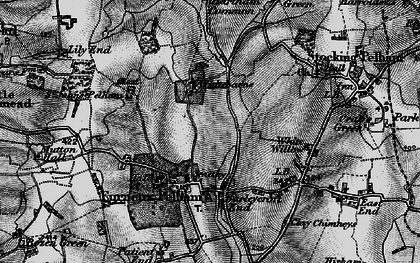 Old map of Furneux Pelham in 1896