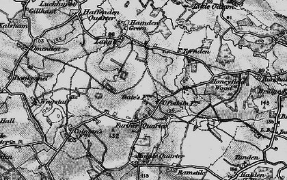 Old map of Langley in 1895