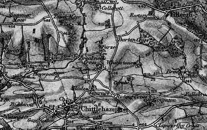 Old map of Whitstone in 1898