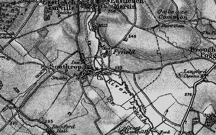 Old map of Tiltup in 1896