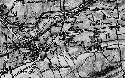 Old map of Fyfield in 1898