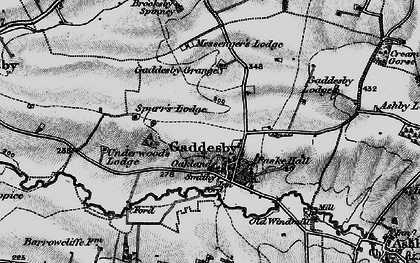 Old map of Gaddesby in 1899