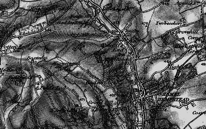 Old map of Gadebridge in 1896