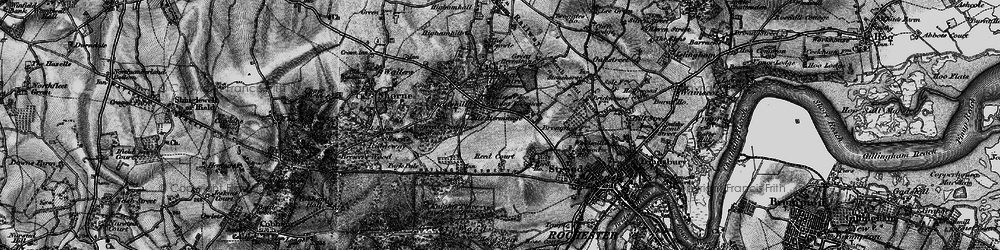 Old map of Gadshill in 1895