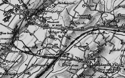 Old map of Gaerwen in 1899