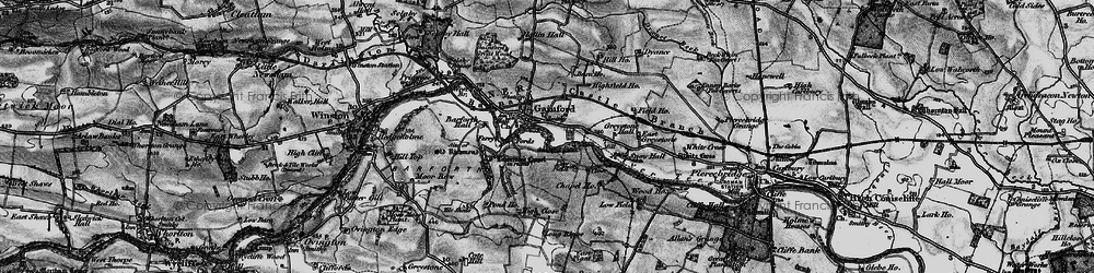 Old map of West Tees Br in 1897