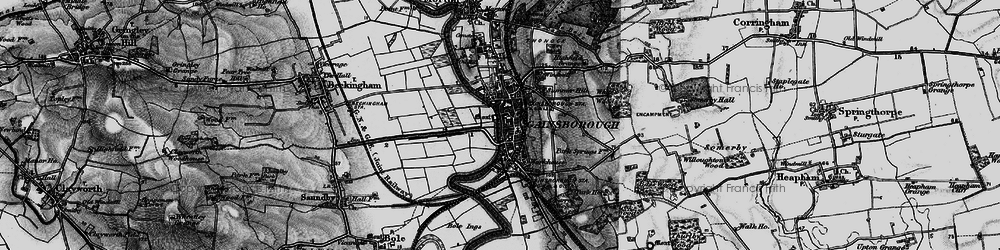 Old map of Gainsborough in 1895