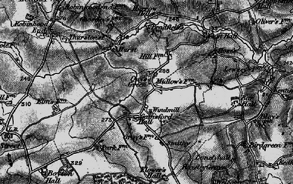 Old map of Wethersfield Airfield in 1895
