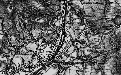 Old map of Aiggin Stone in 1896