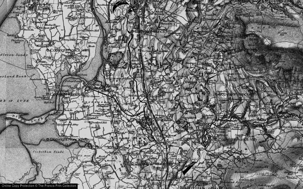 Old Map of Galgate, 1898 in 1898