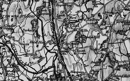 Old map of Galgate in 1898