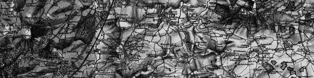 Old map of Baddow Park in 1896
