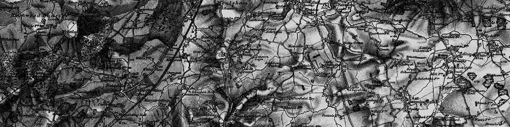 Old map of Galleywood in 1896
