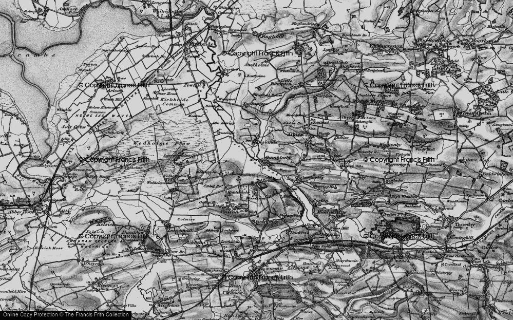 Old Map of Historic Map covering Lawrenceholme in 1897