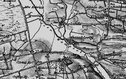 Old map of Lawrenceholme in 1897