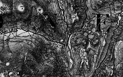 Old map of Afon Gamlan in 1899