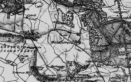 Old map of Thurtle Wood in 1898