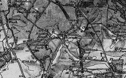 Old map of Ganwick Corner in 1896