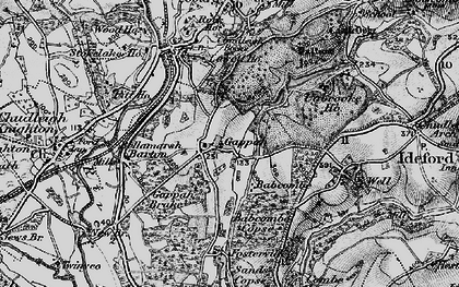 Old map of Babcombe in 1898