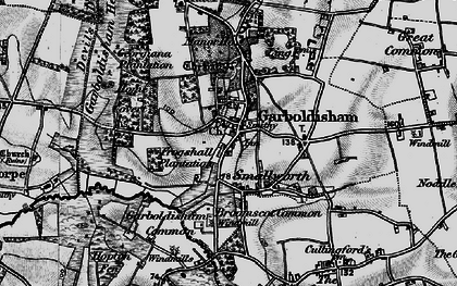 Old map of Garboldisham in 1898