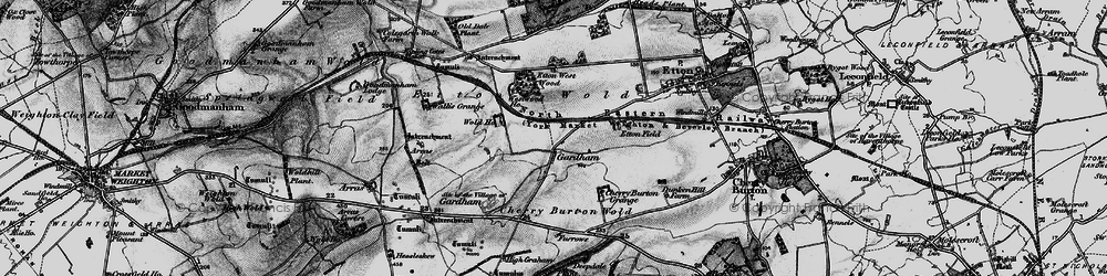 Old map of Westwood Ho in 1898