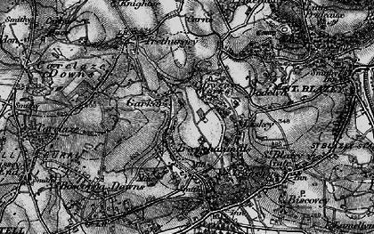 Old map of Garker in 1895