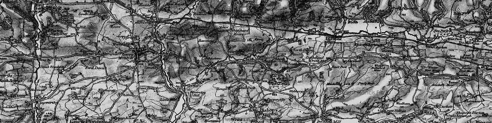 Old map of Whitechapel Moors in 1898