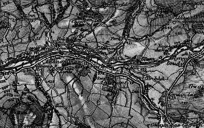 Old map of Banc Cwmhelen in 1897