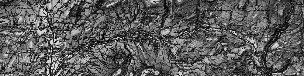 Old map of Garnant in 1897