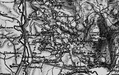 Old map of Garndolbenmaen in 1899