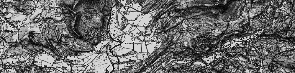Old map of Garreg in 1899