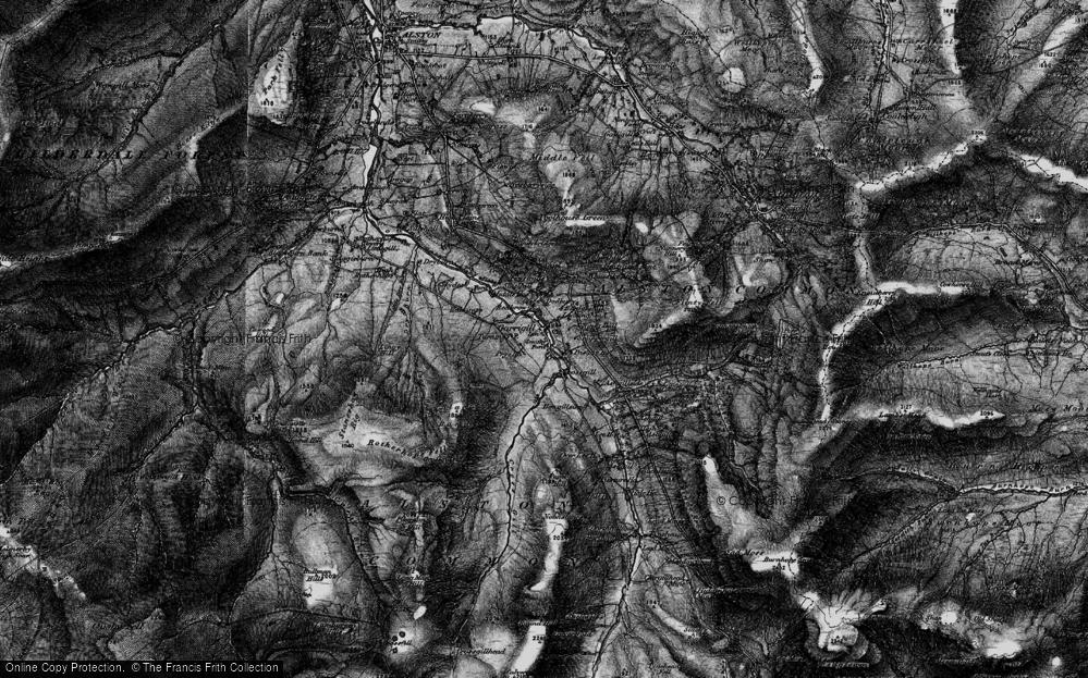Old Map of Garrigill, 1897 in 1897