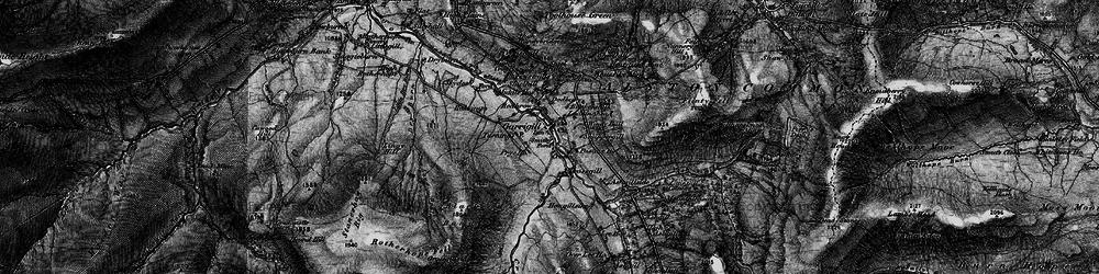 Old map of Garrigill in 1897