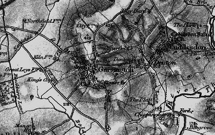 Old map of Garsington in 1895