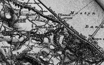 Old map of Garth in 1896